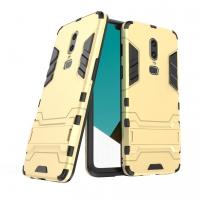 OnePlus 6 Tough Armor Protective Case (Gold)
