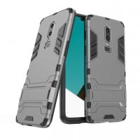 OnePlus 6 Tough Armor Protective Case (Grey)