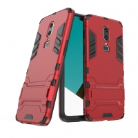 OnePlus 6 Tough Armor Protective Case (Red)