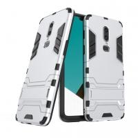 OnePlus 6 Tough Armor Protective Case (Silver)