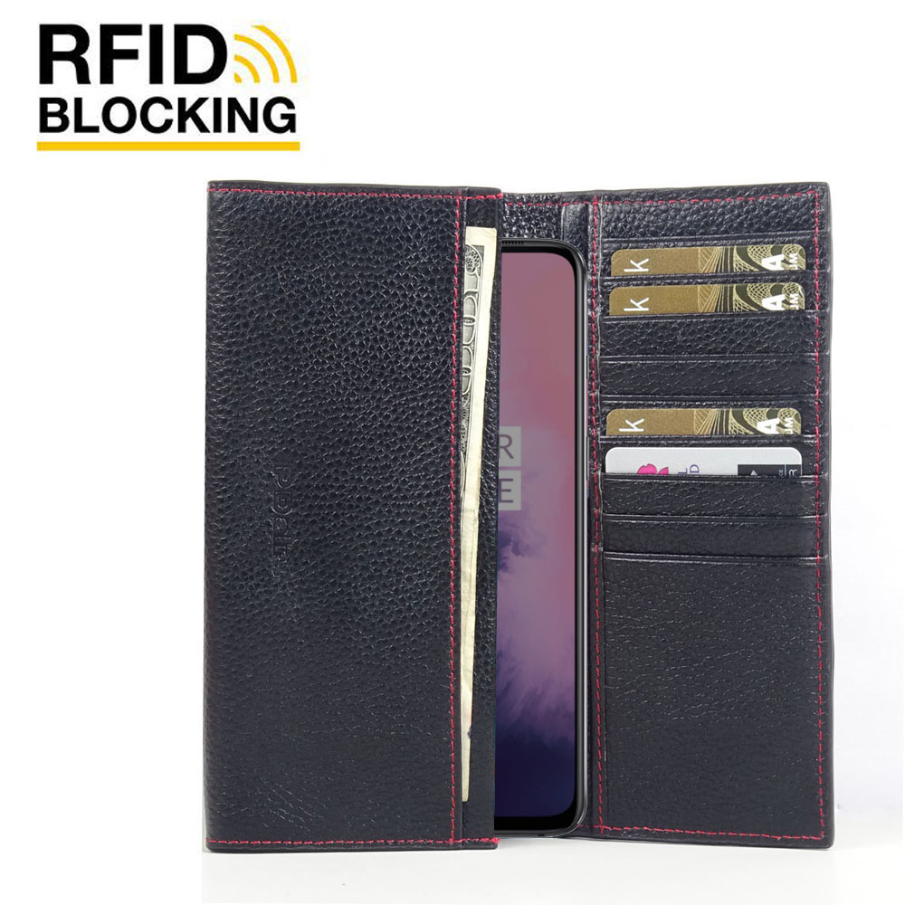 10% OFF + FREE SHIPPING, Buy the BEST PDair Handcrafted Premium Protective Carrying OnePlus 7 Leather Continental Sleeve Wallet (Red Stitching). Exquisitely designed engineered for OnePlus 7.
