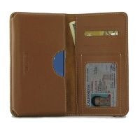 Leather Card Wallet for OnePlus 7T (Brown)