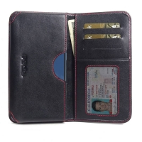 Leather Card Wallet for OnePlus 7T (Red Stitch)