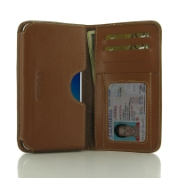 Leather Card Wallet for OPPO A57 (Brown)