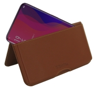 Leather Wallet Pouch for OPPO Find X (Brown)