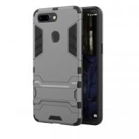 OPPO R15 Tough Armor Protective Case (Grey)