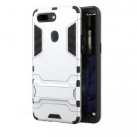 OPPO R15 Tough Armor Protective Case (Silver)
