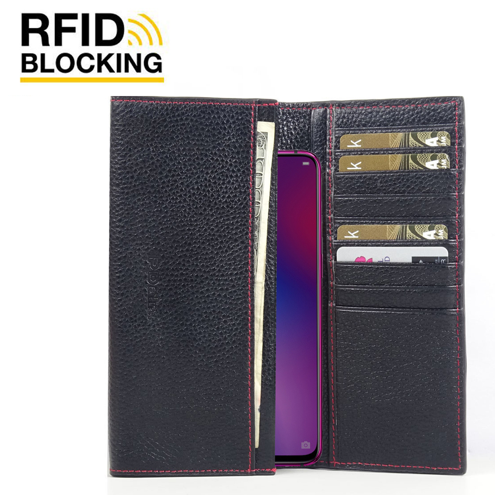10% OFF + FREE SHIPPING, Buy the BEST PDair Handcrafted Premium Protective Carrying OPPO R17 Leather Continental Sleeve Wallet (Red Stitching). Exquisitely designed engineered for OPPO R17.