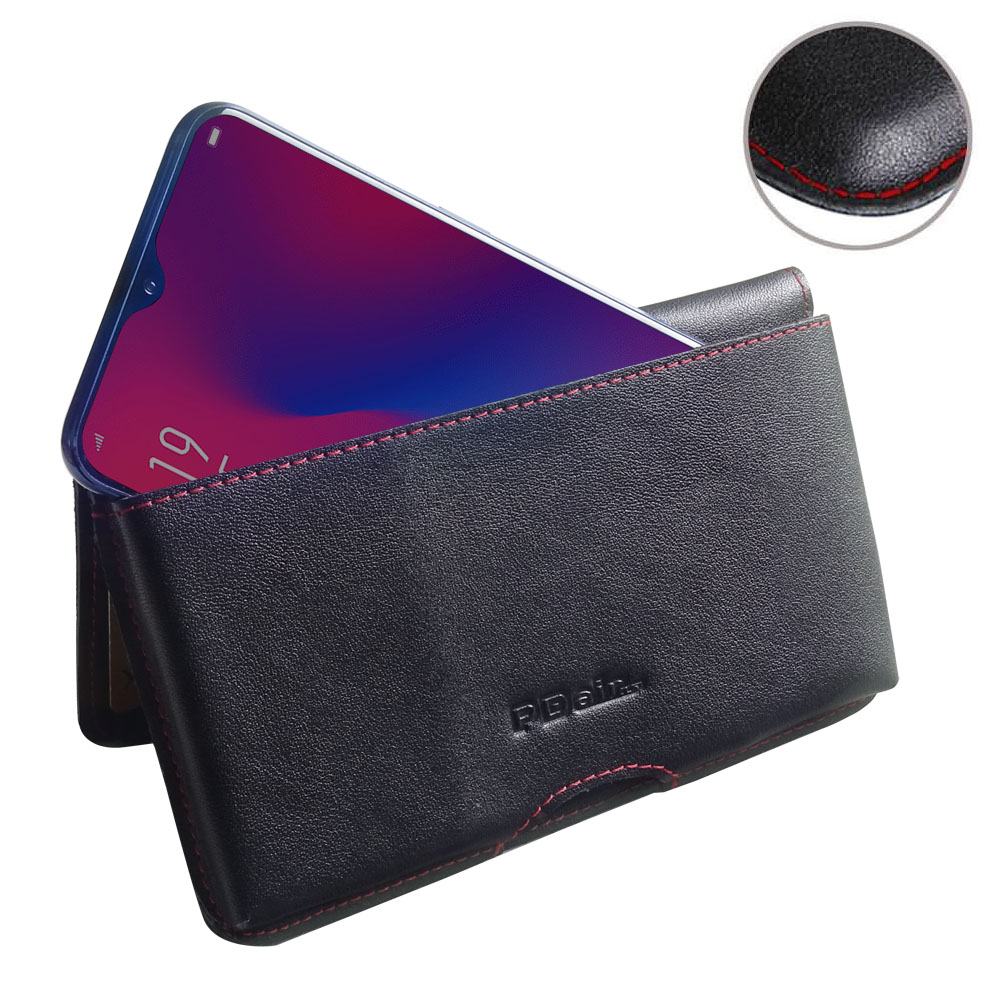 10% OFF + FREE SHIPPING, Buy the BEST PDair Handcrafted Premium Protective Carrying OPPO R17 Leather Wallet Pouch Case (Red Stitch). Exquisitely designed engineered for OPPO R17.