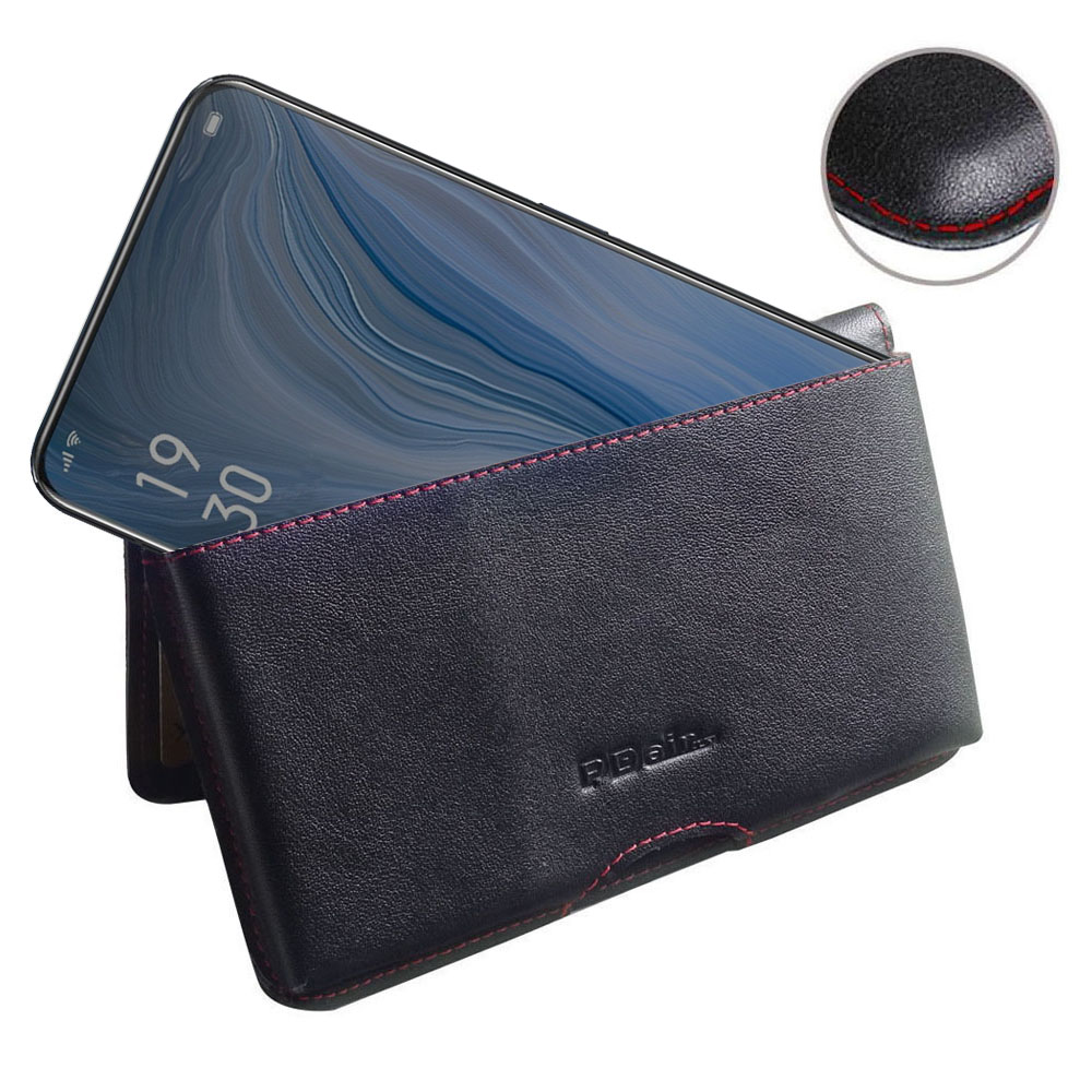 10% OFF + FREE SHIPPING, Buy the BEST PDair Handcrafted Premium Protective Carrying OPPO Reno Leather Wallet Pouch Case (Red Stitch). Exquisitely designed engineered for OPPO Reno.