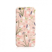 Pink Flower Garden iPhone 6s 6 Plus SE 5s 5 Pattern Printed Hard Case