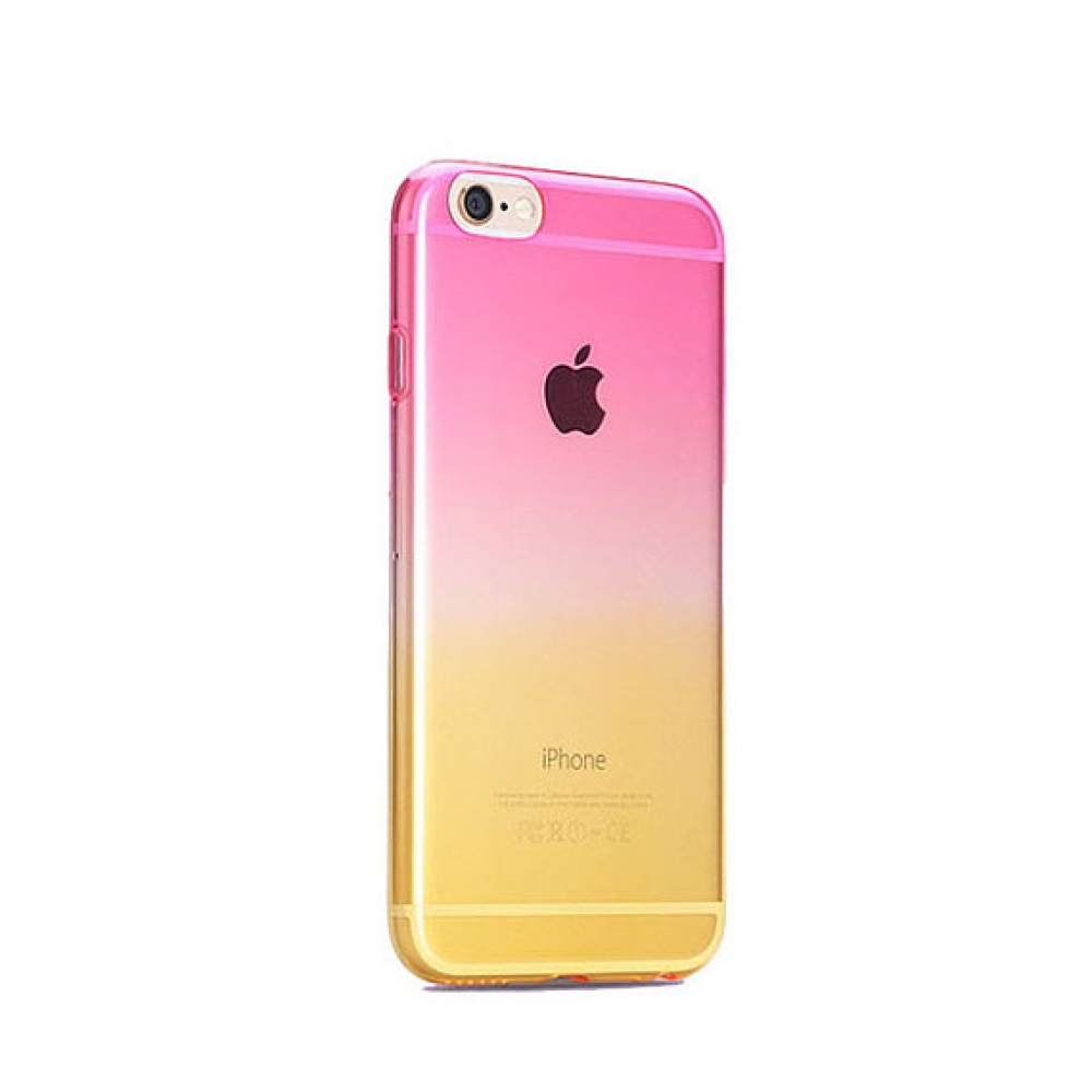 10% OFF + FREE SHIPPING, Buy PDair Gradient iPhone Soft Clear Case (Pink to Yellow) which is available for iPhone 5 | iPhone 5s, iPhone 6 | iPhone 6s, iPhone 6 Plus | iPhone 6s Plus, iPhone SE You also can go to the customizer to create your own stylish l