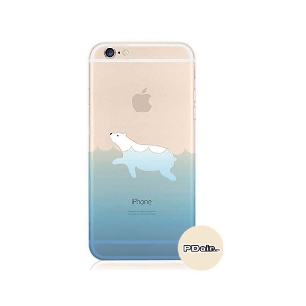 10% OFF + FREE SHIPPING, Buy PDair iPhone Pattern Printed Soft Clear Case Polar Bear Sea Swim which is available for iPhone 5 | iPhone 5s SE 6 6s, iPhone 6 Plus | iPhone 6s Plus. You also can go to the customizer to create your own stylish leather case if