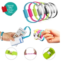 Portable Wristband Micro USB and Lightning Fast Charging Data Cable :: Pdair