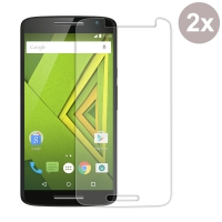 Premium Tempered Glass Film Screen Protector for Motorola Moto X Play (Pack of 2pcs)