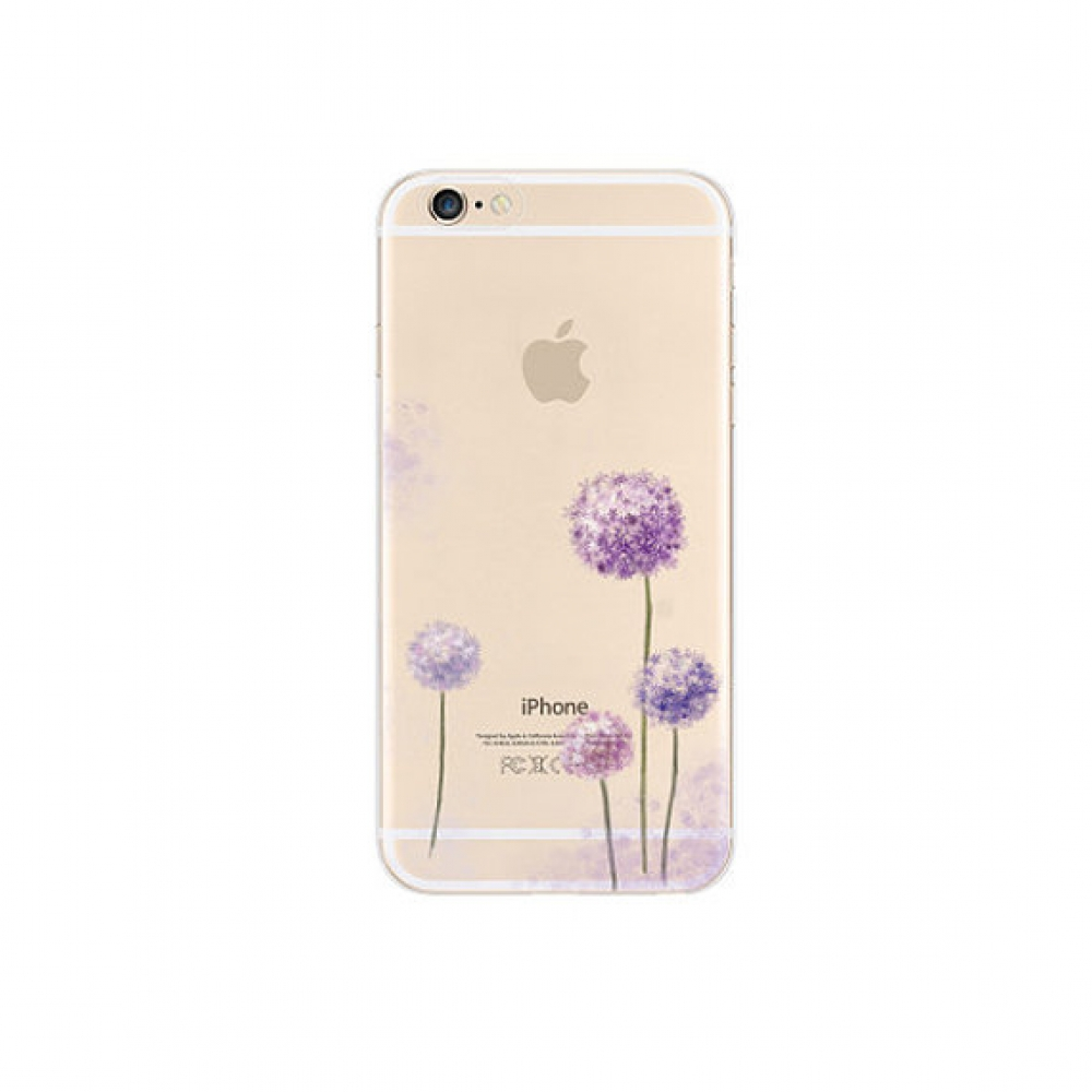 10% OFF + FREE SHIPPING, Buy PDair iPhone Soft Clear Case Purple Taraxacum Flowers which is available for iPhone 5 | iPhone 5s, iPhone 6 | iPhone 6s, iPhone 6 Plus | iPhone 6s Plus, iPhone SE You also can go to the customizer to create your own stylish le