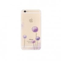 Purple Taraxacum Flowers iPhone 6s 6 Plus SE 5s 5 Pattern Printed Soft Case