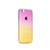 Purple to Yellow Gradient iPhone 6s 6 Plus SE 5s 5 Soft Clear Case