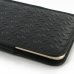 iPhone 8 Plus Leather Sleeve Pouch Case (Black Metal Pattern) protective carrying case by PDair