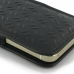 iPhone SE Leather Sleeve Pouch Case (Black Metal Pattern) genuine leather case by PDair