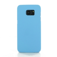Samsung Galaxy S7 edge Rubberized Hard Cover (Light Blue) PDair Premium Hadmade Genuine Leather Protective Case Sleeve Wallet