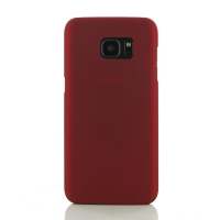 Samsung Galaxy S7 edge Rubberized Hard Cover (Red) PDair Premium Hadmade Genuine Leather Protective Case Sleeve Wallet