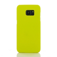 Samsung Galaxy S7 edge Rubberized Hard Cover (Yellow) PDair Premium Hadmade Genuine Leather Protective Case Sleeve Wallet