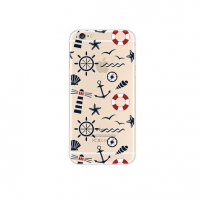 Sailing Anchor Wheel Pattern iPhone 6s 6 Plus SE 5s 5 Pattern Printed Soft Case