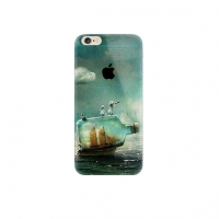 Sailing Boat in a Bottle iPhone 6s 6 Plus SE 5s 5 Pattern Printed Soft Case