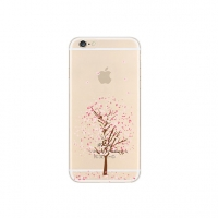 Sakura Cherry Fade Tree Floral iPhone 6s 6 Plus SE 5s 5 Pattern Printed Soft Case