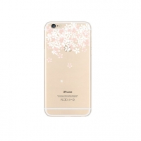 Sakura Cherry Petals Top Floral iPhone 6s 6 Plus SE 5s 5 Pattern Printed Soft Case