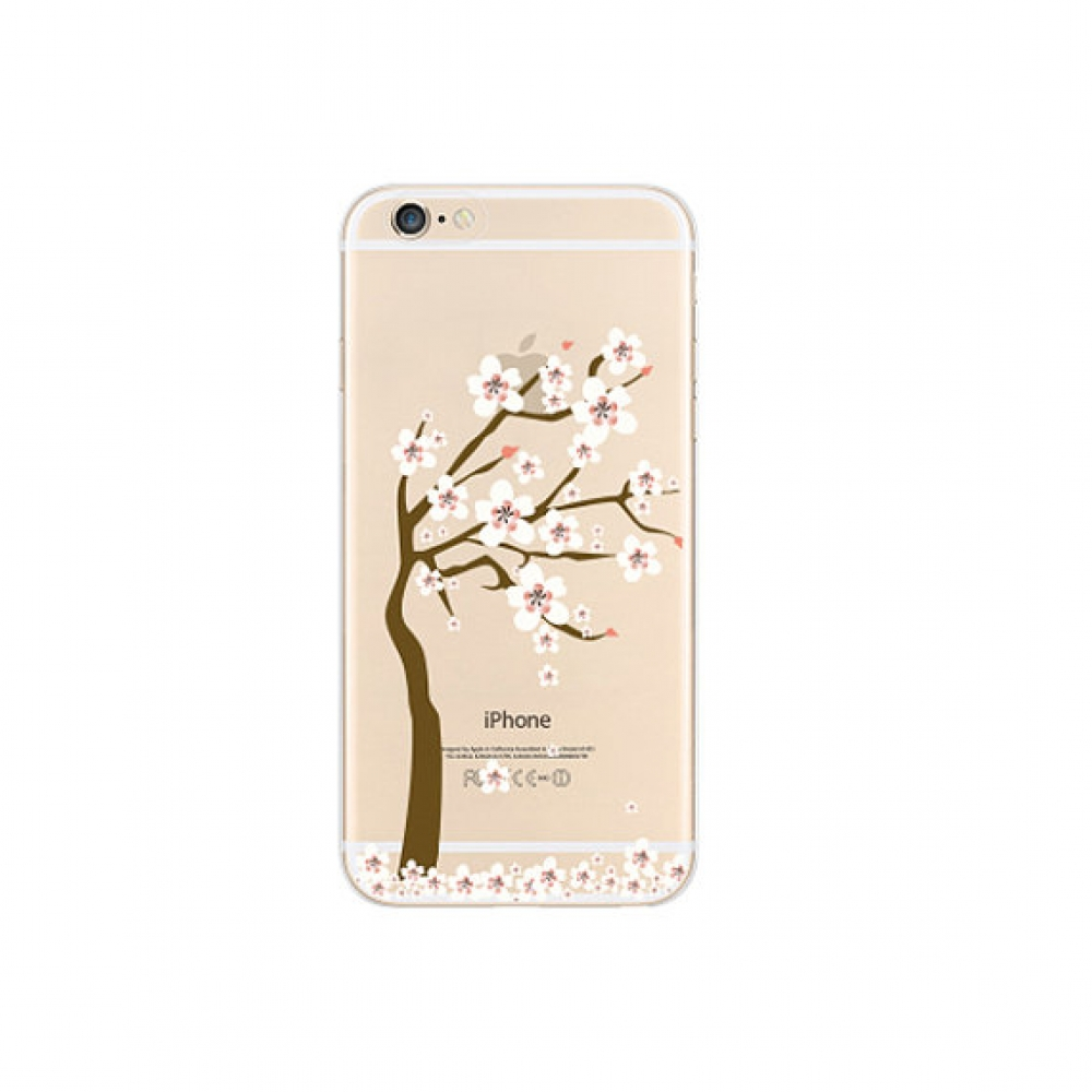 10% OFF + FREE SHIPPING, Buy PDair iPhone Soft Clear Case Sakura Cherry Tree blossom Floral which is available for iPhone 6 | iPhone 6s, iPhone 6 Plus | iPhone 6s Plus, iPhone 5 | iPhone 5s SE You also can go to the customizer to create your own stylish l