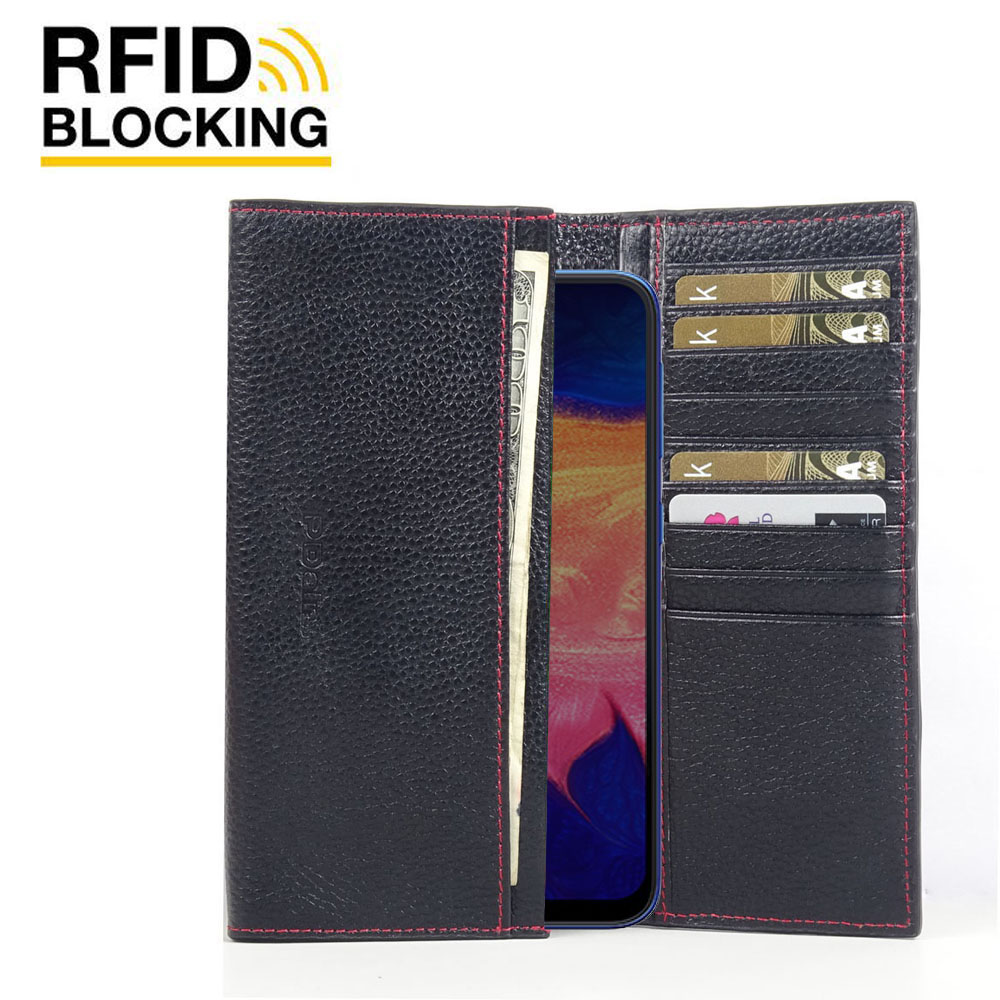 10% OFF + FREE SHIPPING, Buy the BEST PDair Handcrafted Premium Protective Carrying Samsung Galaxy A10 Leather Continental Sleeve Wallet (Red Stitching). Exquisitely designed engineered for Samsung Galaxy A10.