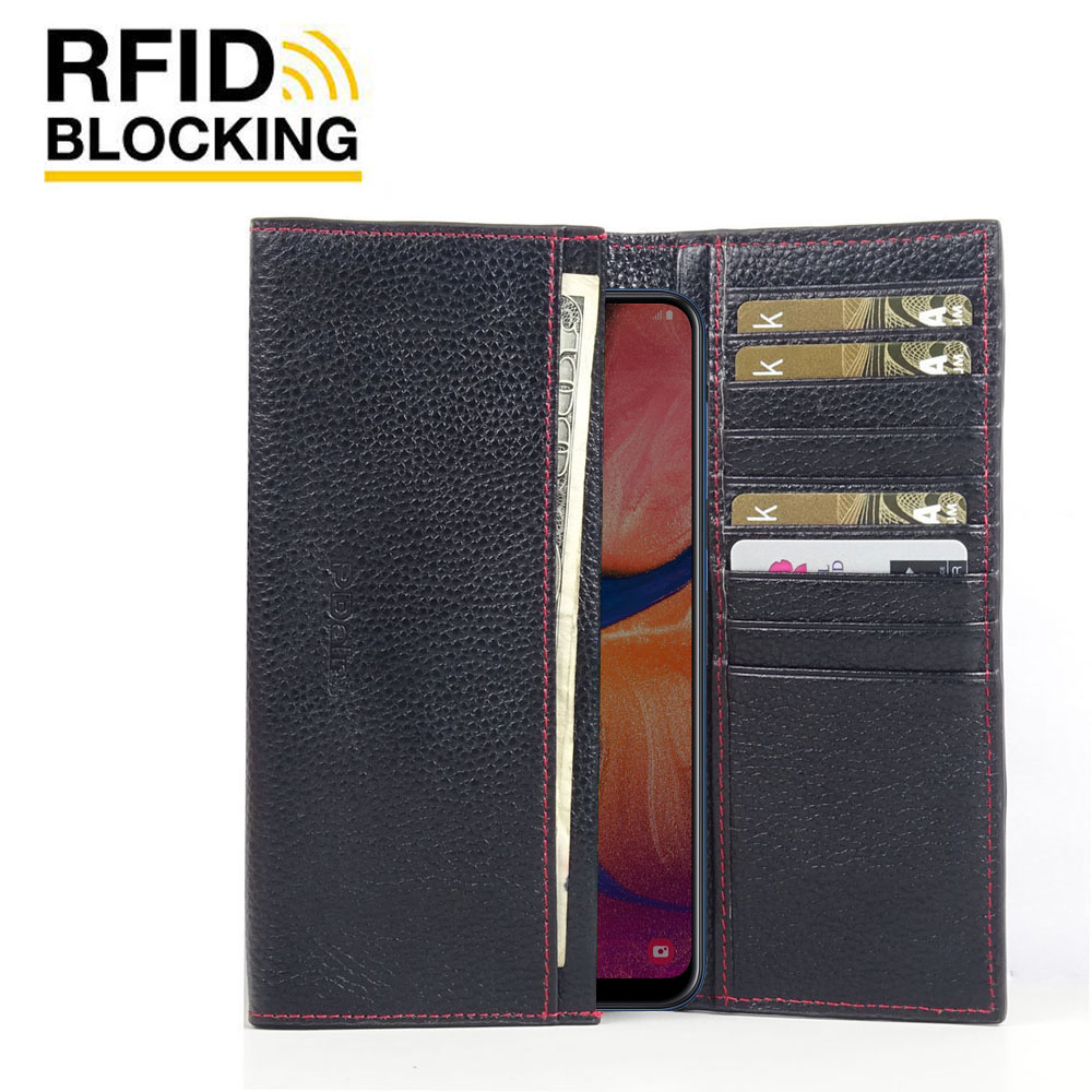 10% OFF + FREE SHIPPING, Buy the BEST PDair Handcrafted Premium Protective Carrying Samsung Galaxy A20 Leather Continental Sleeve Wallet (Red Stitching). Exquisitely designed engineered for Samsung Galaxy A20.