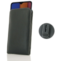 Leather Vertical Pouch Belt Clip Case for Samsung Galaxy A20s