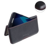 10% OFF + FREE SHIPPING, Buy Best PDair Handmade Protective Samsung Galaxy A3 (2017) Genuine Leather Wallet Pouch Case (Red Stitch).  You also can go to the customizer to create your own stylish leather case if looking for additional colors, patterns and