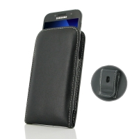 Leather Vertical Pouch Belt Clip Case for Samsung Galaxy A3 (2017)