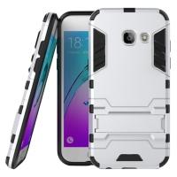 Samsung Galaxy A3 (2017) Tough Armor Protective Case (Silver)