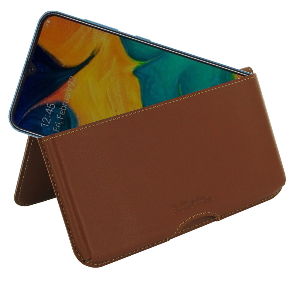 10% OFF + FREE SHIPPING, Buy the BEST PDair Handcrafted Premium Protective Carrying Samsung Galaxy A30 Leather Wallet Pouch Case (Brown). Exquisitely designed engineered for Samsung Galaxy A30.