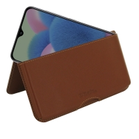 Samsung Galaxy A30s Leather Wallet Pouch Case (Brown) is the most functional handmade case so far with its unique design and exquisite craftsmanship. Multi-purpose pockets provide room for multiple credit card and ID cards. 2 additional pockets are custom