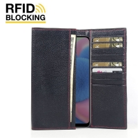 Fashion meets function in a beautifully complex, Samsung Galaxy A30s Leather RFID Blocking Continental Sleeve Wallet (Red Stitching) has the timeless elegance of highlights the slender contours. Beautifully crafted in top quality leather, this functional