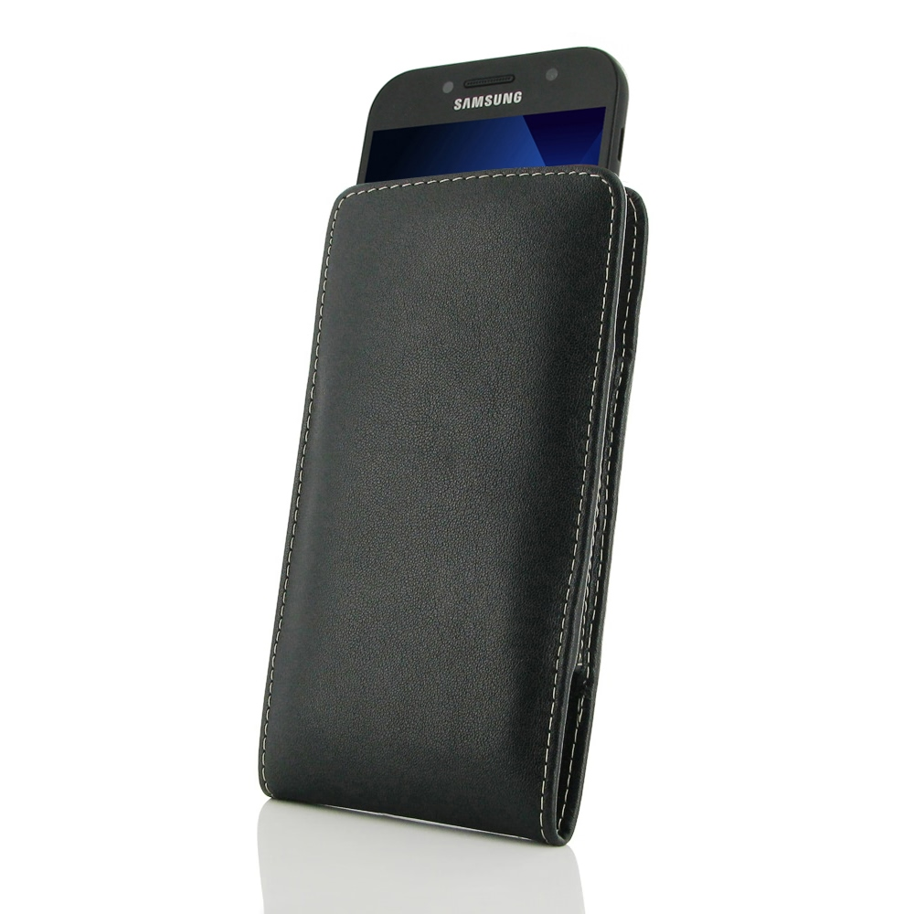 huge discount 6ba0a 6ee61 Leather Vertical Pouch Case for Samsung Galaxy A5 (2017)