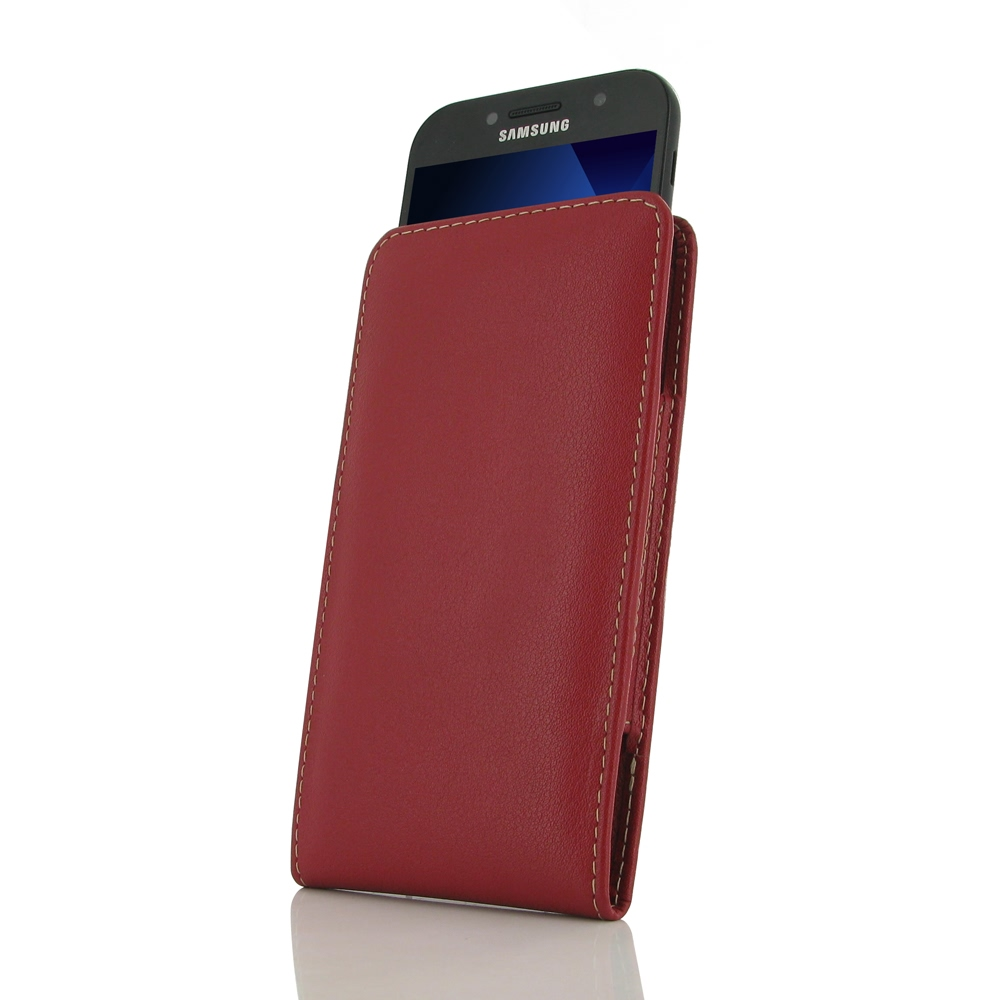 10% OFF + FREE SHIPPING, Buy Best PDair Handmade Protective Samsung Galaxy A5 (2017) Genuine Leather Sleeve Pouch Case (Red). Pouch Sleeve Holster Wallet  You also can go to the customizer to create your own stylish leather case if looking for additional