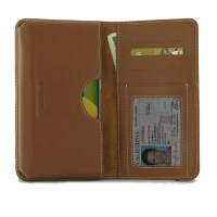 Leather Card Wallet for Samsung Galaxy A50s (Brown)