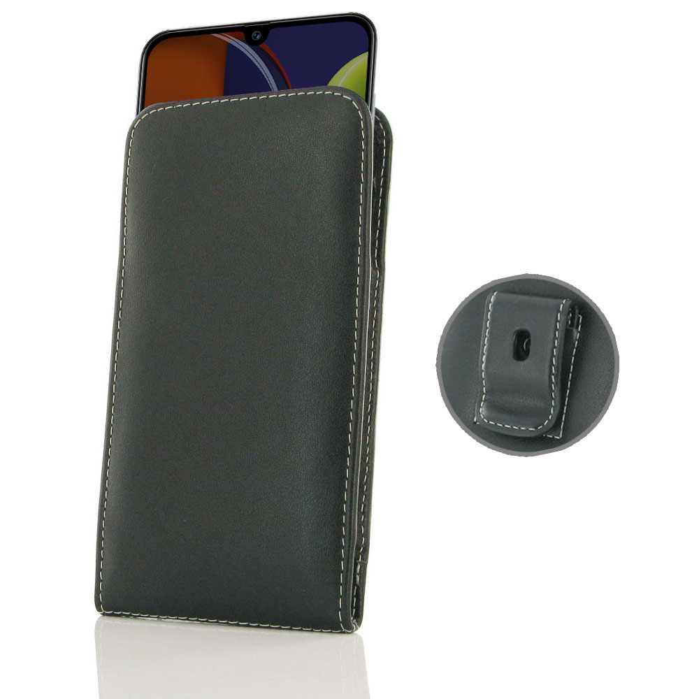 Samsung Galaxy A50s Pouch Case with Belt Clip is custom designed to provide full protection with our traditional design. This handmade carrying case allows you to place the device anywhere like on your belt, in bag or pocket conveniently. Beautiful stitch