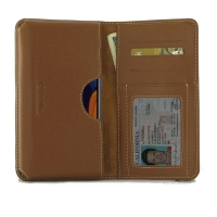 Leather Card Wallet for Samsung Galaxy A60 (Brown)