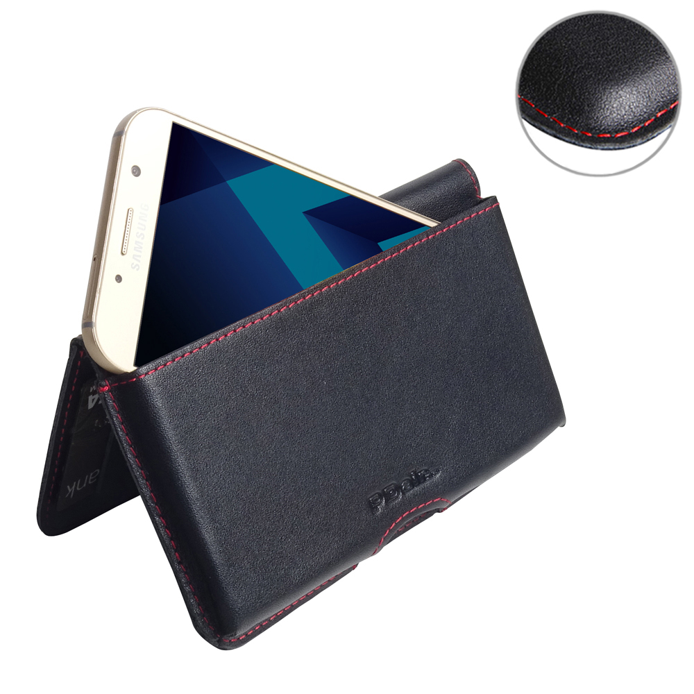 10% OFF + FREE SHIPPING, Buy Best PDair Handmade Protective Samsung Galaxy A7 (2017) Genuine Leather Wallet Pouch Case (Red Stitch). You also can go to the customizer to create your own stylish leather case if looking for additional colors, patterns and t