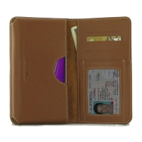 Leather Card Wallet for Samsung Galaxy A7 (2018) (Brown)