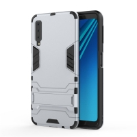 Samsung Galaxy A7 (2018) Tough Armor Protective Case (Silver)