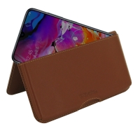 10% OFF + FREE SHIPPING, Buy the BEST PDair Handcrafted Premium Protective Carrying Samsung Galaxy A70 Leather Wallet Pouch Case (Brown). Exquisitely designed engineered for Samsung Galaxy A70.